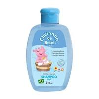Shampoo Infantil Cheirinho de Bebê azul, 210mL