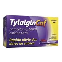 Tylalgin Caf 500mg + 65mg, caixa com 20 comprimidos revestidos