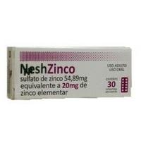 Nesh Zinco 20mg, caixa com 30 comprimidos dispersíveis