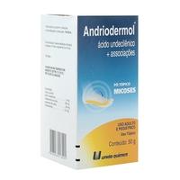 Andriodermol Caixa com 1 bisnaga com 50g de pó para solução de uso dermatológico