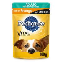 Ração para Cães Pedigree Vital Pro Adulto Raças Pequenas Frango ao Molho, 100g
