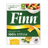 Adoçante Finn Stévia - Pó, 50 envelopes