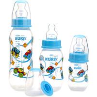 Kit Mamadeira Kuka Natural Plus 70mL + 160mL + 250mL, azul