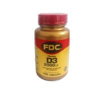 Vitamina D3 FDC frasco com 100 cápsulas