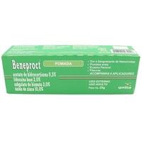 Beneproct 0,5% + 2% + 2% + 10%, bisnaga com 25g de pomada de uso dermatológico + 6 aplicadores