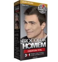 Tonalizante Biocolor Homem Cobertura Total louro escuro
