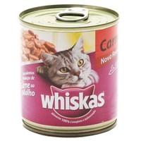 Ração para Gatos Whiskas Sabor Carne ao Molho Lata 290g