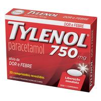 750mg, caixa com 20 comprimidos revestidos