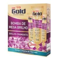 Ampola de Tratamento Bomba de Mega Brilho Niely Gold