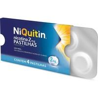 NiQuitin Pastilha 2mg, caixa com 4 pastilhas, sabor menta