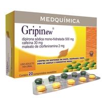 250mg + 30mg + 250mg + 2mg, caixa com 20 comprimidos revestidos