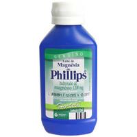 Leite de Magnésia de Phillips 1214,25mg/15mL, frasco com 120mL de suspensão de uso oral, sabor hortelã