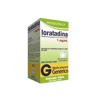 Loratadina Medquímica 1mg/mL, caixa com 1 frasco com 100mL de xarope + copo medidor