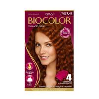 Tintura Biocolor Performance Kit Louro Médio Acobreado Intenso  Nº  7.44