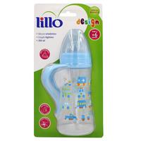 Mamadeira Lillo Design 6+ meses, com alça, 300mL, azul