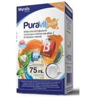 PuraVit Imune caixa com 1 frasco com 75mL de solução de uso oral