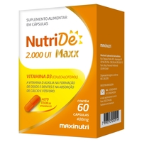 NutriDê Maxx 2000UI, 400mg, frasco com 60 cápsulas