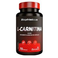 L-Carnitina Biophisicus 500mg, frasco com 70 cápsulas
