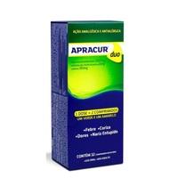 Apracur Duo 500mg + 2mg + 30mg, caixa com 12 comprimidos revestidos