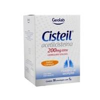 Cisteil 200mg/g, caixa com 16 envelopes com 5g de granulado para solução de uso oral