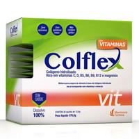 Colflex Vit pó para solução oral de colágeno, caixa com 30 sachês de 12,6g cada