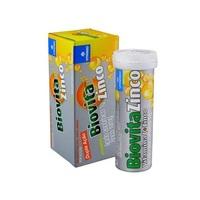 Biovita Zinco 1g + 10mg, frasco com 10 comprimidos efervescentes