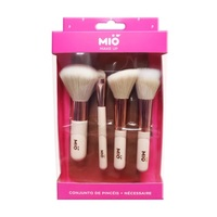 Kit Pincéis para Maquiagem Mió Make Up 4 itens + 1 nécessaire
