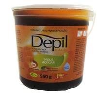 Cera Depilatória Corporal Depil Fácil mel e açúcar, 550g
