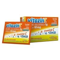 Vitazinc 1g, caixa com 10 envelopes com 4g de pó efervescente de uso oral, laranja