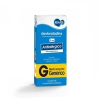 Desloratadina EMS 5mg, caixa com 10 comprimidos revestidos