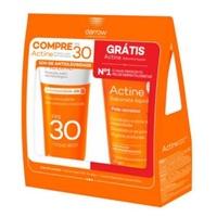 Protetor Solar Facial Darrow Actine Antioleosidade FPS 30, 40g + grátis, sabonete antiacne, líquido, 60mL