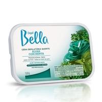 Cera Depilatória Corporal Depil Bella algas com menta, barra, 500g