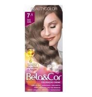 Tintura Beauty Color Bela&Cor nº 7.1 louro cinza médio