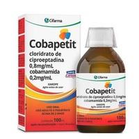Cobapetit 0,8mg/mL + 0,2mg/mL, caixa com 1 frasco com 100mL de xarope