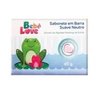 Sabonete Bebê Love suave neutro, barra com 65g