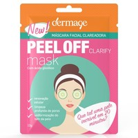 Máscara Facial Clareadora Peel Off Dermage Sachê, 10g