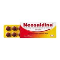 Neosaldina 30mg + 300mg + 30mg, caixa com 20 drágeas