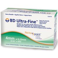 Agulha Descartável BD Ultra-Fine Penta Point 4mm, 100 unidades