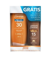 FPS 30,  200mL + grátis, óleo protetor, spray, FPS 15, 110mL