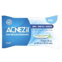 Lenço Umedecido Demaquilante Acnezil - 20 unidades