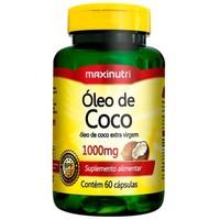 Óleo de Coco Extravirgem Maxinutri 1000mg, Frasco com 60 Cápsulas
