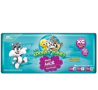 Fralda Baby Looney Tunes XG, pacote com 36 unidades