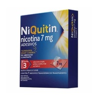 NiQuitin Adesivo 7mg, caixa com 7 adesivos transdérmicos transparentes (etapa 3)