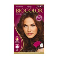 Tintura Creme Biocolor nº 6.35 marrom claro dourado acaju