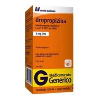 Dropropizina União Química 3mg/mL, caixa com 1 frasco com 120mL de xarope + copo medidor