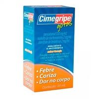 Cimegripe 100mg/mL + 2mg/mL + 2mg/mL, frasco gotejador com 20mL de solução de uso oral