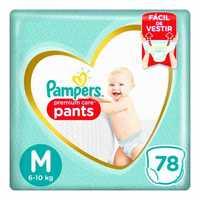Fralda Pampers Premium Care Pants M com 78 unidades