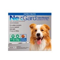 NexGard 10,1Kg a 25Kg, caixa com 3 tabletes mastigáveis