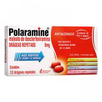 Polaramine Drágea - 6mg, caixa com 12 drágeas