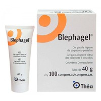 Gel de Limpeza Blephagel Duo gel, 40g + 100 compressas